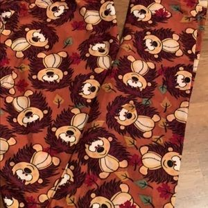LuLaRoe hedgehog leggings OS